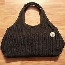 The Sak Black Crochet Crocheted Handbag Shoulder Purse  Photo