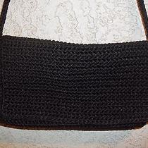 The Sak  Black Crochet Evening Bag /  Small Purse Photo