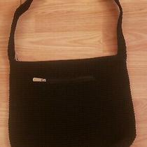 The Sak Black Crochet Knit Shoulder Bag Purse  Photo