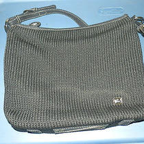 the Sak Black Crochet Knit Woven Handbag   Photo