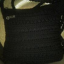 The Sak Black Crochet Lined Small Crossbody/shoulder Hobo Womens Bag  Photo