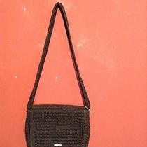 The Sak Black Crochet Shoulder Bag or Purse Small  Photo