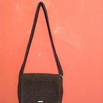 The Sak Black Crochet Shoulder Bag or Purse Small  Photo