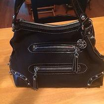 The Sak Black Crochet With Studded Black Leather Trim Photo