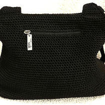 The Sak Black Crochet Womans Handbag Photo