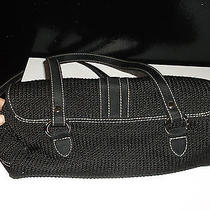 The Sak Black Crocheted Handbag Purse Photo