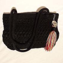 The Sak Black Crocheted Purse Photo