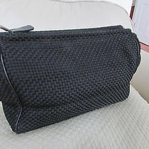 The Sak Black Interwoven Microfiber Shoulder Handbag Photo