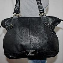 The Sak Black Large Leather Shoulder Hobo Tote Satchel Slouch Purse Bag Photo