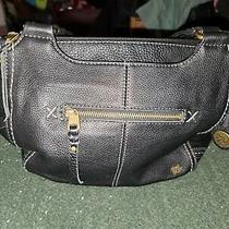 The Sak Black Leather Purse Shoulder Bag Photo