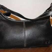 The Sak Black Leather Satchel Beautiful Smaller Sized High End Purse Handbag  Photo