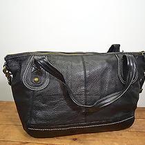 The Sak Black Leather Shoulder Bag / Large Purse Photo