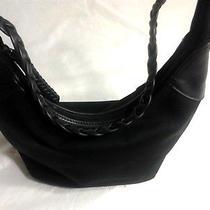 The Sak Black Microfiber Shoulder Bag Purse Photo