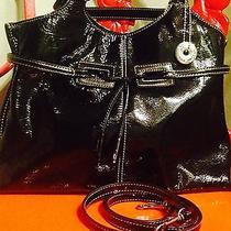 The Sak Black Patent Handbag - Like New - Great - Free Ship Photo