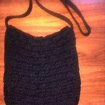 The Sak  Blk Crochet Purse Photo