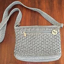 The Sak Blue Crochet Handbag Photo