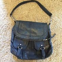 The Sak Blue Leather Handbag Photo