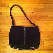 The Sak Brand Handbag  Pure Leather With Tightweave Black Purse Magnetic Snap Photo