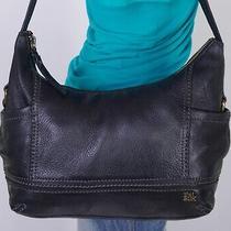 The Sak Bridget Medium Black Leather Shoulder Hobo Tote Satchel Purse Bag Photo