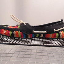 The Sak  Bright Colorful Macrame Vegan  Flats Women Size 10 M Photo
