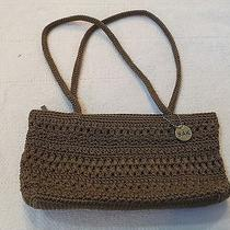 The Sak Brown Crochet Bag Handbag Purse Tote Photo