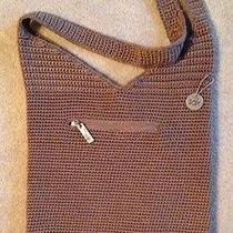 The Sak  Brown Crochet/knit Round Shoulder Hobo Sac Bucket Handbag Photo