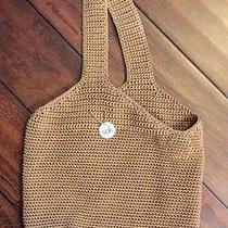 The Sak Brown Crochet Medium Hobo Bag Handbag Purse Shoulder Bag Photo