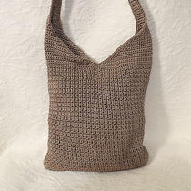 The Sak Brown Crochet Nice Very  Large Crochet Signature  Bag Purse Photo