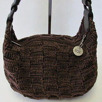 The Sak Brown Knit Crochet Hobo Satchel Shoulder Handbag Tote Purse Photo