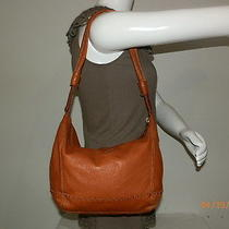 The Sak Brown Leather Shoulder Bag Handbag Purse   Photo