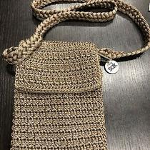 The Sak Brown Woven Crochet Knit Small Shoulder Bag Crossbody Purse Photo