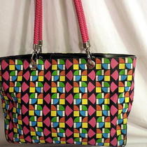 The Sak Coated Canvas Multi-Colored Stain Glass Pattern Shoulder/tote Bag Photo