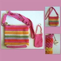 The Sak Colorful Crochet Purse With Small Keyringed Pouch Photo