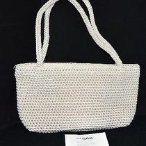 The sak.com Off White Crochet Knit Handbag With 2 Woven Straps Nwt Photo