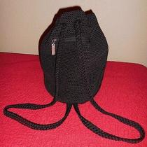 The Sak Crochet Backpack Black Photo