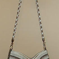The Sak Crochet Cross Body Tote Purse Beige/white/pink/brown  Photo