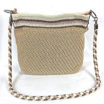 The Sak Crochet Crossbody Handbag Purse Womens Beige Photo