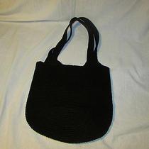 The Sak Crochet Handbag Black Euc Photo