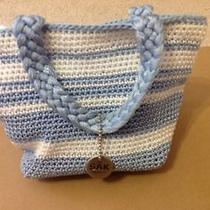 The Sak Crochet Handbag - Blue & White Photo