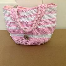 The Sak Crochet Handbag - Pink & White Photo
