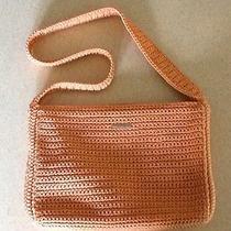 The Sak Crochet/knit Bag Handbag Purse Coral Photo