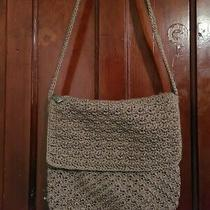 The Sak Crochet Knit Hobo Bucket Shoulder Bag Purse Tan Photo