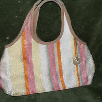 the Sak Crochet Knit Woven Handbag  Multi Color Photo