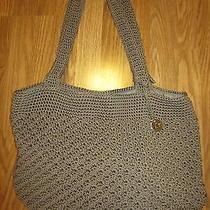 The Sak Crochet Large Tote Beige Purse Shoulder Bag Great Condition Photo