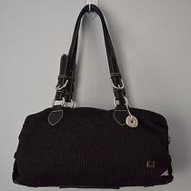 The Sak Crochet Shoulder Bag Solid Black Medium Photo