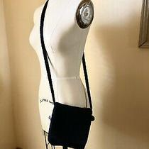 The Sak Crochet Small Navy Blue Purse Bag Hobo Purse Crossbody Nwot Photo