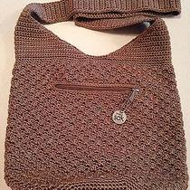 The Sak Crochet Taupe Handbag Photo
