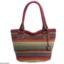 The Sak Crochet Tote Purse Handbag - Gypsy Stripe New With Tags (Nwt) Photo