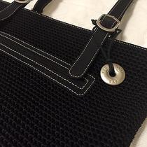 The Sak Crocheted Black Handbag Nylon  Photo