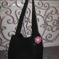 The Sak Crocheted Handbag in Black Photo